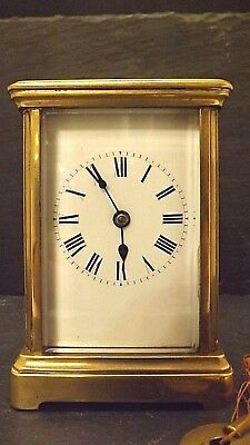 Antique French 8 Day, Striking / Chiming Carriage Clock.  including Key.