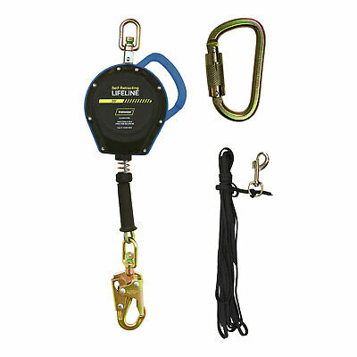 20 ft. Lightweight Self-Retracting Lifeline with Galvanized Cable – ANSI Class B