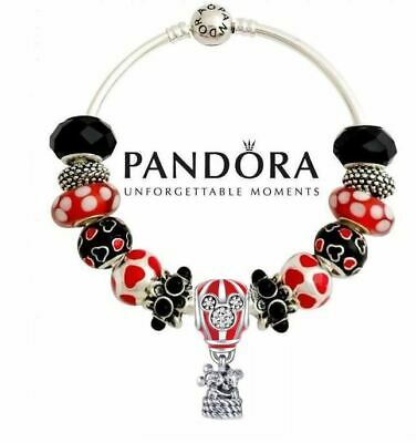 Authentic Pandora Bracelet with Disney Parks Mickey Minnie Mouse Hot Air Balloon
