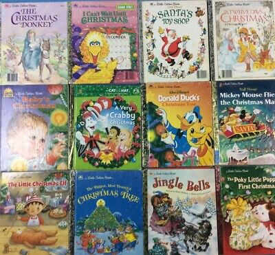 Christmas Little Golden Books Lot of 10 Mixed Titles FREE SHIPPING!!