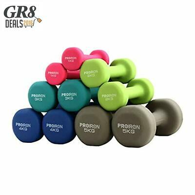 PROIRON Neoprene Dumbbell Home Exercise for Ladies Kids Arm Hand Weights Pilates
