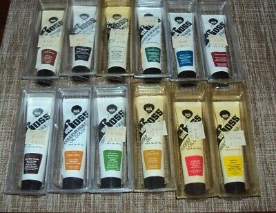 12 tubes Vintage Bob Ross Oil Paint 1.5 oz each NOS