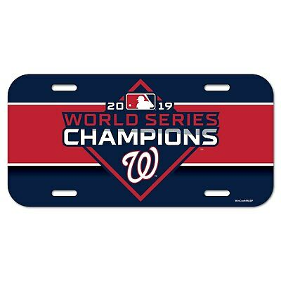 MLB Washington Nationals 2019 World Series Champs License Plate by WinCraft