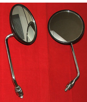 Pair of Period Vintage 4.5 Inch Yamaha Motorcycle Mirrors LE2637