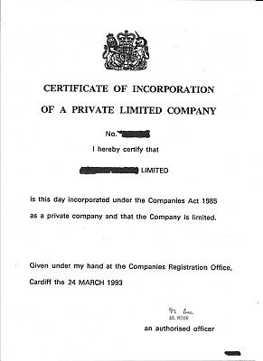 Old established Private Limited company 100% shareholding for sale