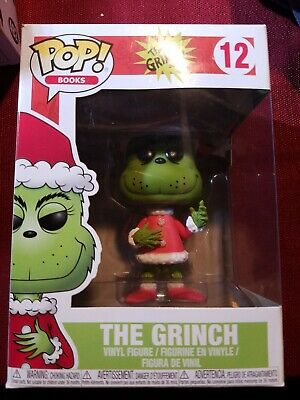 Funko POP! Books Dr. Seuss The Grinch #12 Santa Toy Figure New factory sealed