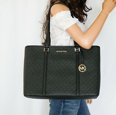 Details about NWT MK Michael Kors SADY Large Black Tote Saffiano Leather $438
