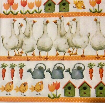 3 Paper Napkins for Decoupage / Parties/Easter  - Geese