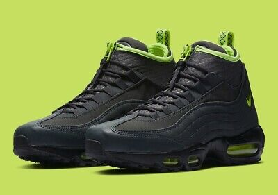 Nike Air Max 95 Sneakerboot Mens Size 9.5 Flax Ale Brown Shoes 806809 201
