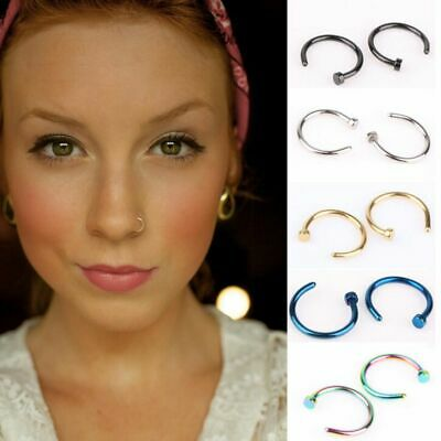 8mm Fashion Fake Clip on Hoop Nose Ring Non Piercing Nostril Hoop Body Jewelry