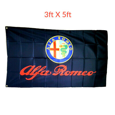 3x5FT For Alfa Romeo Flag Banner Garge Wall Car Show Racing Giulia 4C Stelvio