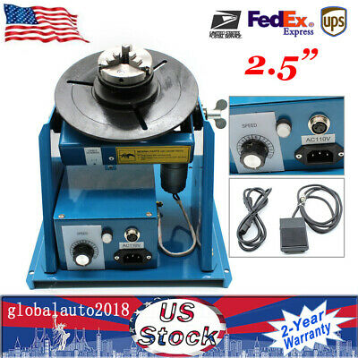 2.5 inch 3 Jaw Rotary Welding Positioner Turntable Table Lathe Chuck 2-10r/min