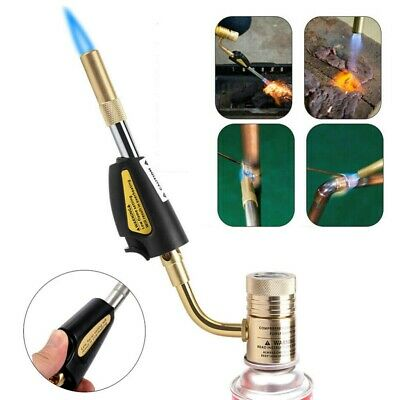 Gas Self Ignition Turbo Torch Brazing Soldering Propane Welding Plumbing Gun Kit