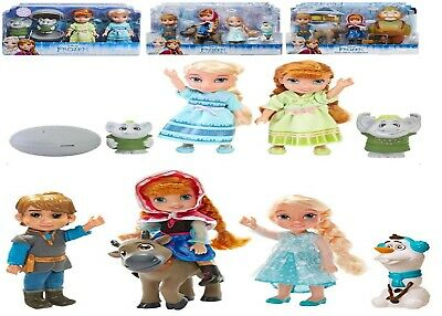 Disney Frozen Petite Toddlers Anna And Elsa Trolls Oaken Trading Post Gift Set