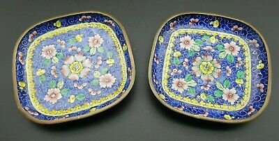 Antique Chinese First Republic c1910 Cloisonne Pin Dishes Beautiful Design