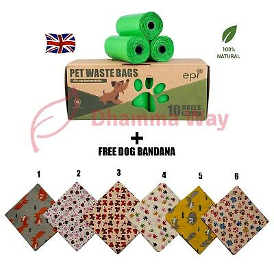 Biodegradable Dog Poo Bags 150 Pieces, Extra Strong.