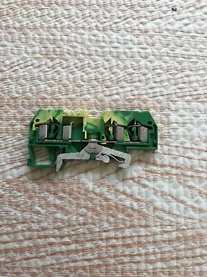 Wago 281-687 Terminal Block 2-Pos 28Awg 12Awg 4Mm Yellow Green Earth (Lot Of 15)