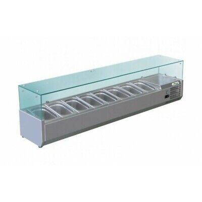 Showcase Refrigerated Carries Ingredients for Pizzeria 180 cm - 8 Pots Gn 1/3
