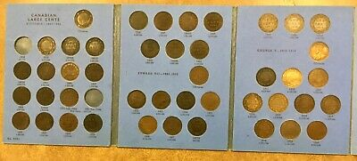 1859- 1920  CANADA Large Cent Collection in folder 44 coins