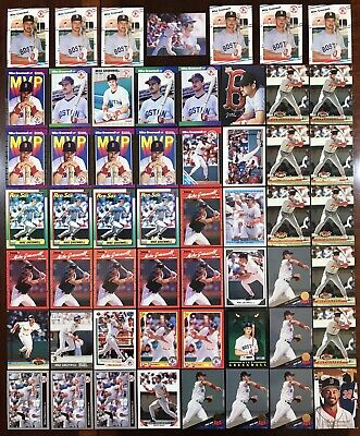 Huge Mike Greenwell Rookie Rc Card Lot (55) Fleer Donruss Upper Deck Red Sox