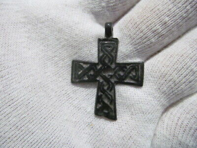Ancient bronze cross Kievan Rus Vikings 11-13 AD № 623/3