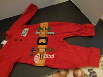 Ho Ho Ho Santa's Helper Infant Red  1 Pc Outfit By Classic Character  12 Mts