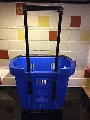 Plastic Shopping Trolley Basket Colour blue 34 L Top Quality