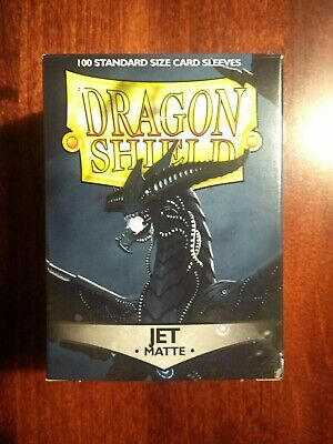 5/% OFF 2+ Black Matte 100 ct Dragon Shield Sleeves Standard Size FREE SHIPPING