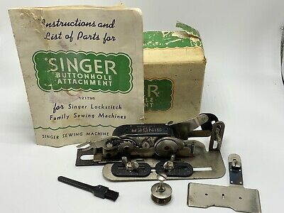 Vintage Singer Sewing Machine Button Hole Attachment (Model 121795) Original