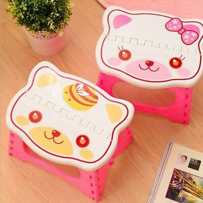 Plastic Folding Step Stool Stool For Children Foldable Portable Bench Home Chair