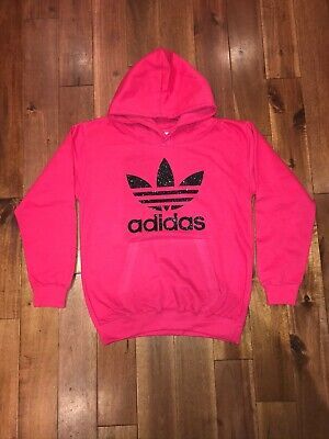 Womens Girls Sports Glitter Hoodie, Adidas, Unique, Top Quality, UK Stock!
