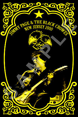 THE BLACK CROWES 12x18 SHAKE YOUR MONEY MAKER TOUR POSTER JIMMY PAGE REUNION 8