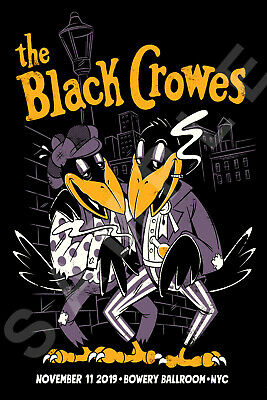 THE BLACK CROWES 12x18 SHAKE YOUR MONEY MAKER TOUR POSTER BOWERY BALLROOM NYC