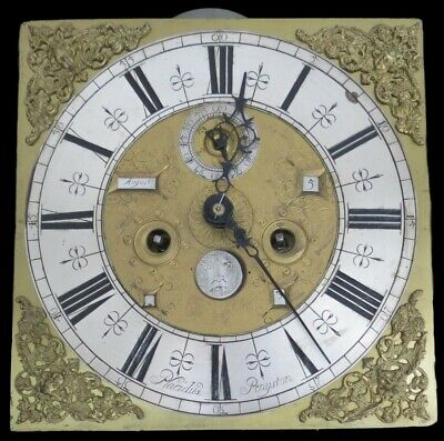 Early Longcase Clock. Moon, Tides, Date, Month of Year. Placidus Penyston. Rare!