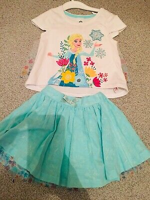 Girls Frozen Disney Skirt & Top age 4 Excellent condition worn once
