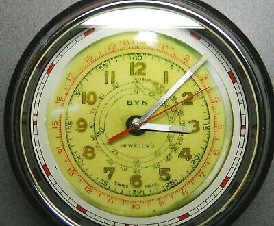 "Repro 1930's BYN watch dial 12"" clock:Quartz:Lumed:Retro:Vintage:"