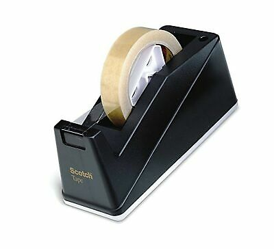 Scotch C10 Desk Tape Dispenser - Black - 25 mm to 75 mm Tape Core Up to 25 mm...