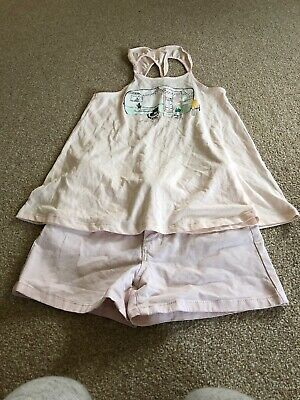 La Redoute Girls Outfut Pink Shorts And Strappy Top With Campervan Print Age 12