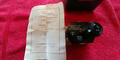 Vintage Bausch & Lomb Micrometer Eyepiece for grain size Determination.BEAUTIFUL