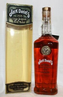 JACK DANIELS 1905 Liege Belgium Gold Medal Tennessee Whiskey
