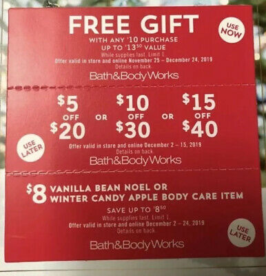 3 Bath & Body Works Coupons Expires Dec 24 Option To Mail Or Message Codes!