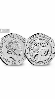 2019 UK Wallace and Gromit CERTIFIED Brilliant Uncirculated 50p Coin Quick Post