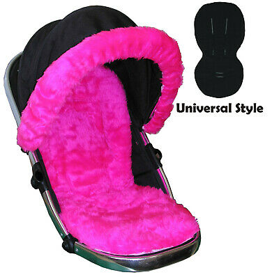 Luxury Fur Seat Liners and Hood Trim package - Universal Style Fit