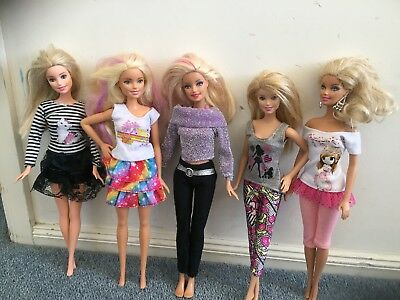 barbie clothes 10 Pcs fashion clothes tops,pants,skirt, NEW doll clothes