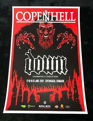 DOWN 12x18 COPENHELL CONCERT POSTER 25 YEARS OF NOLA BAND PANTERA PHIL ANSELMO 1