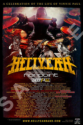 HELLYEAH 12x18 TOUR POSTER 2019 A CELEBRATION OF THE LIFE OF VINNIE PAUL BAND