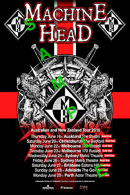 MACHINE HEAD 12x18 BAND POSTER ROBB FLYNN CATHARSIS FREAKS AND ZEROES TOUR 2018