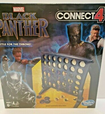 Connect 4 Game Marvel Black Panther Edition! Hasbro Gaming.