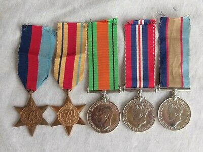 WW2 Australian Africa star medal group of 5 medals.