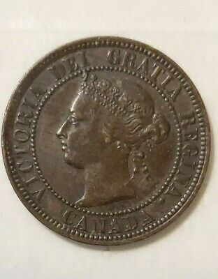 Canada 1884 Large Cent XF+ Obverse 2